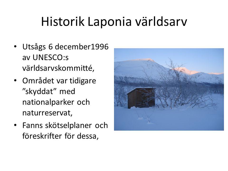 Historik Laponia världsarv