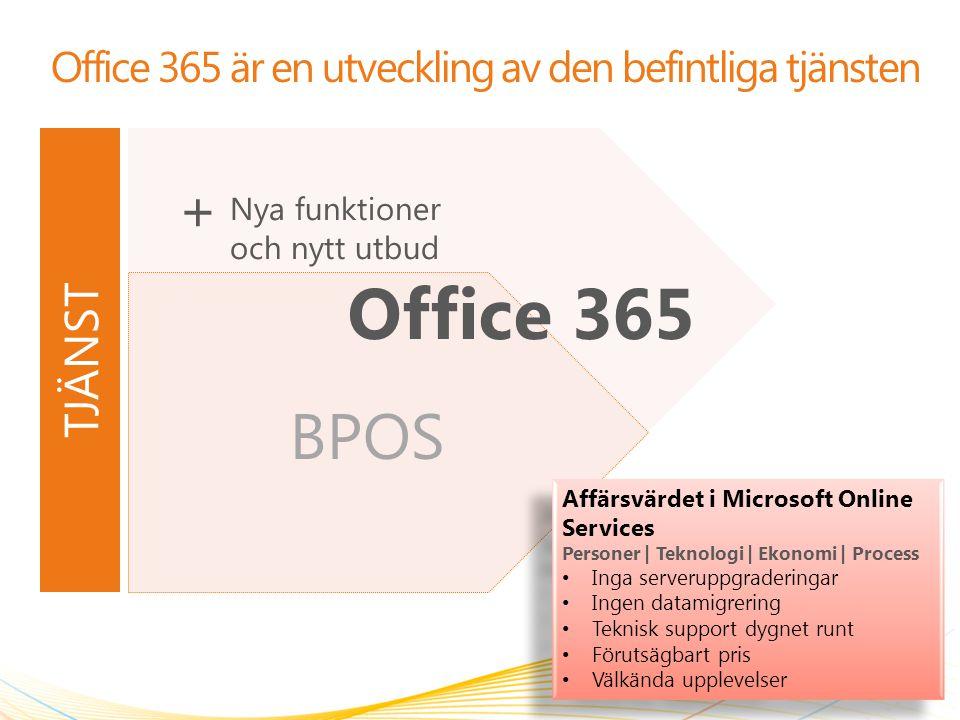 Office 365 är en utveckling av den befintliga tjänsten