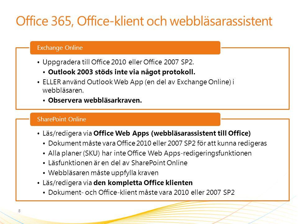 Office 365, Office-klient och webbläsarassistent