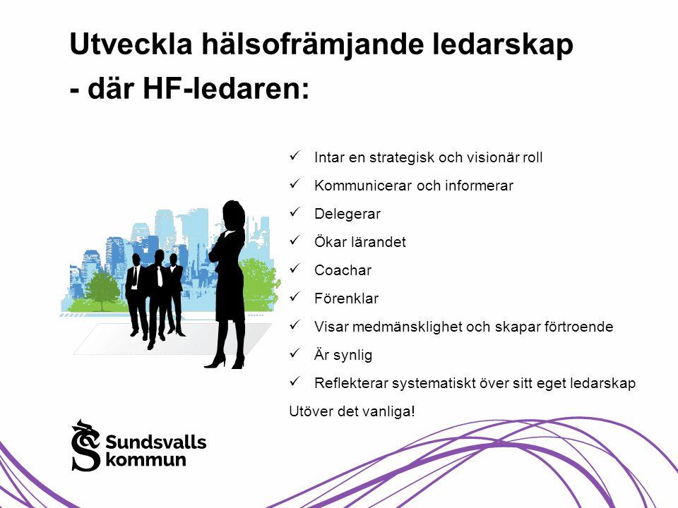 Utveckla hälsofrämjande ledarskap - där HF-ledaren: