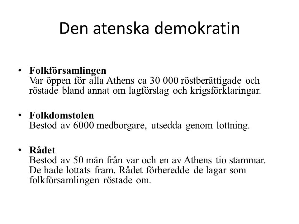 Den atenska demokratin
