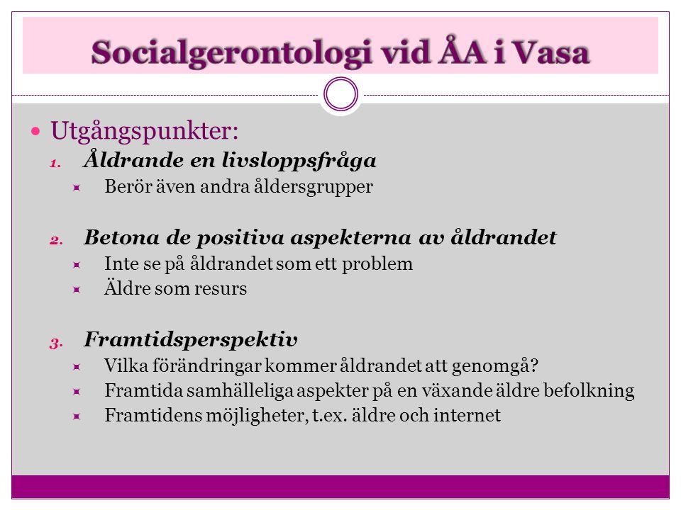 Socialgerontologi vid ÅA i Vasa