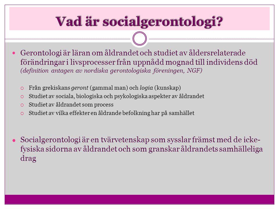 Vad är socialgerontologi