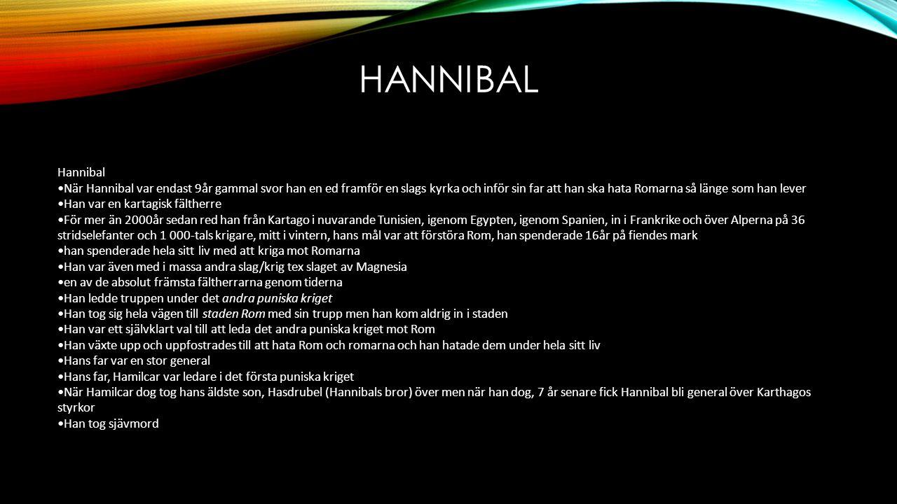 Hannibal Hannibal.