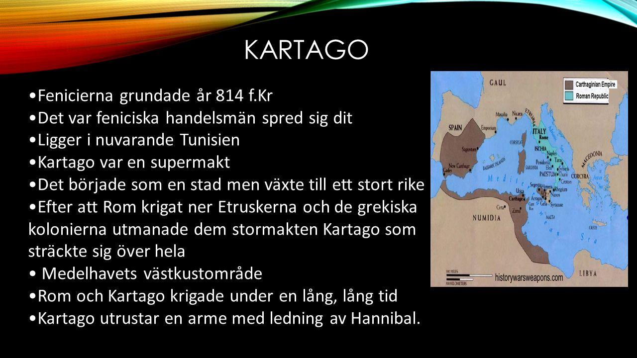 Kartago Fenicierna grundade år 814 f.Kr