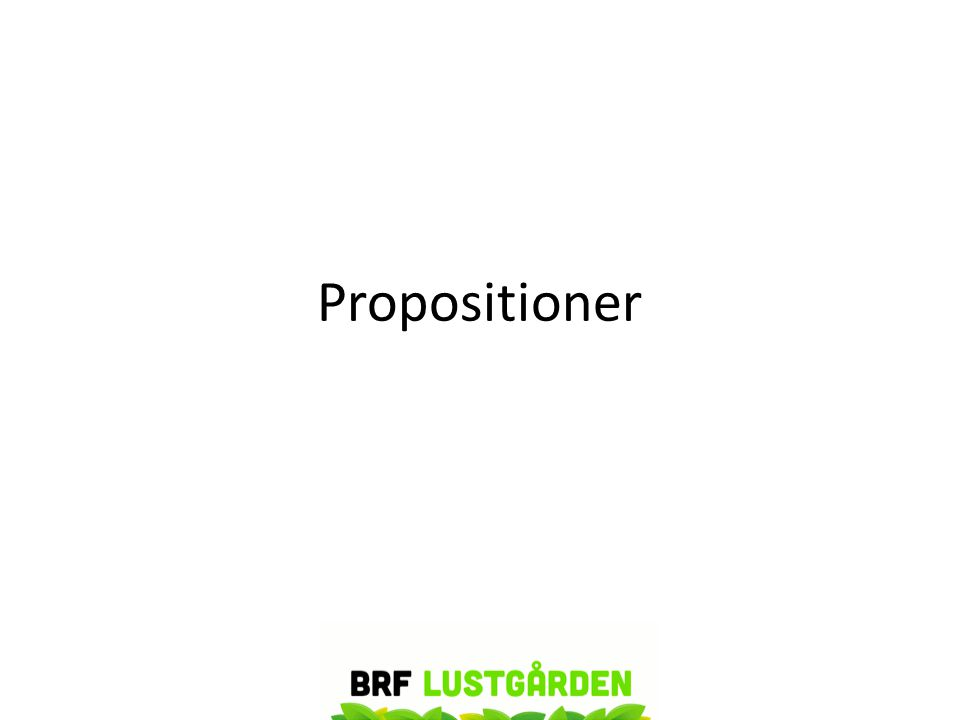 Propositioner
