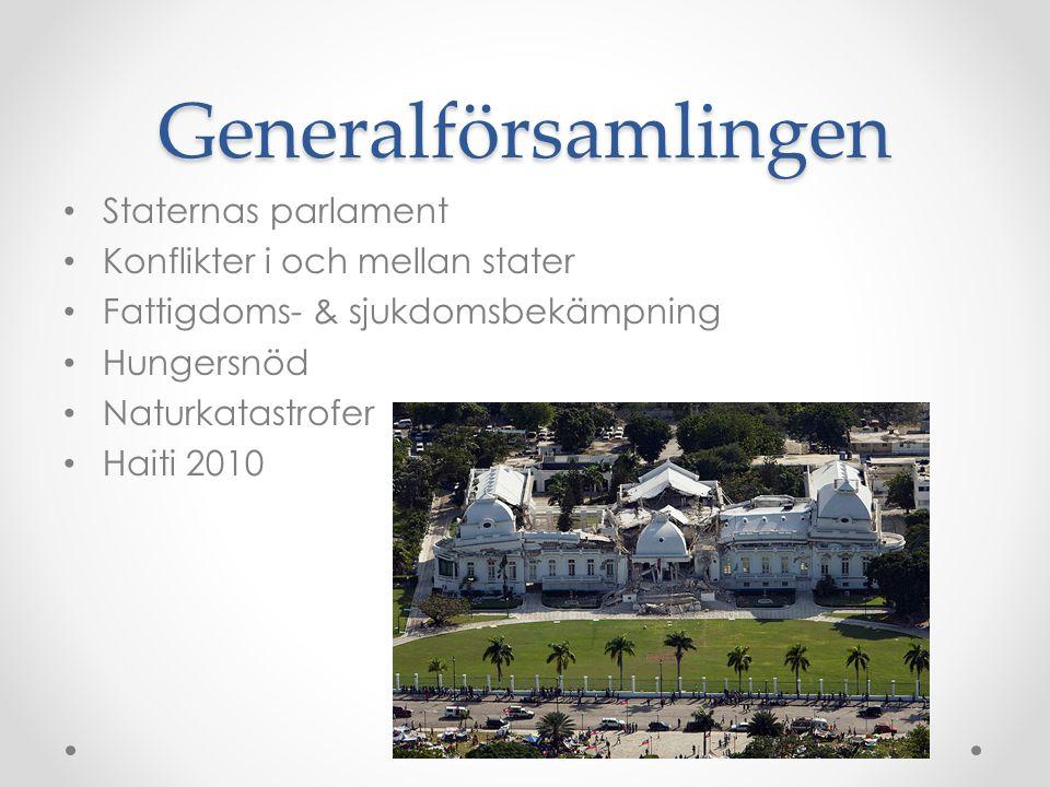 Generalförsamlingen Staternas parlament Konflikter i och mellan stater