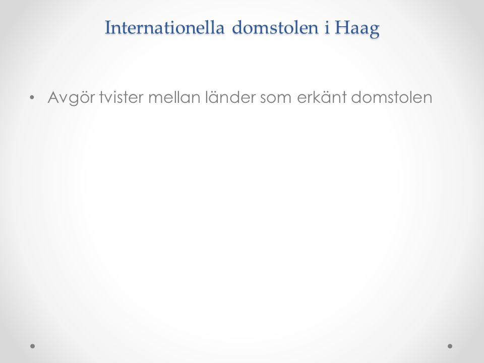 Internationella domstolen i Haag