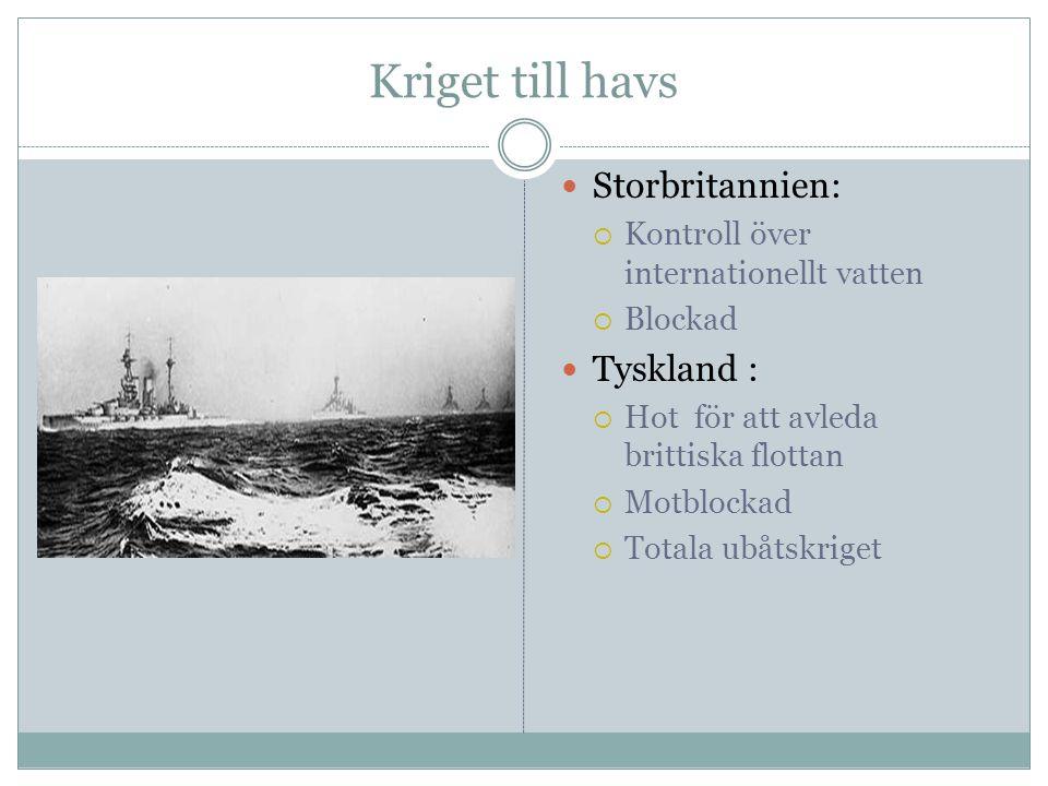 Kriget till havs Storbritannien: Tyskland :