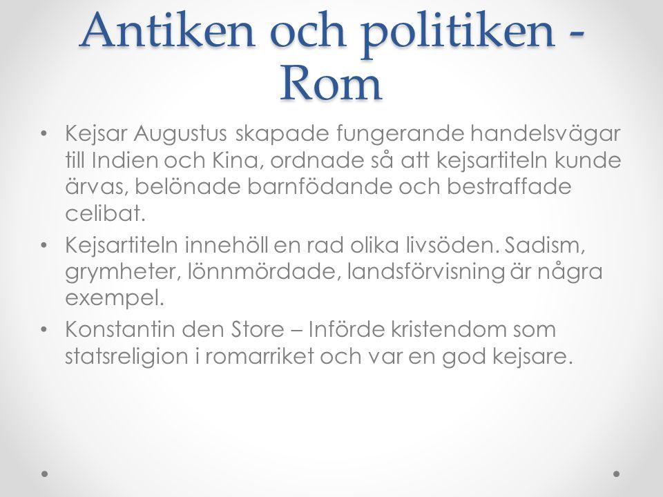 Antiken och politiken - Rom
