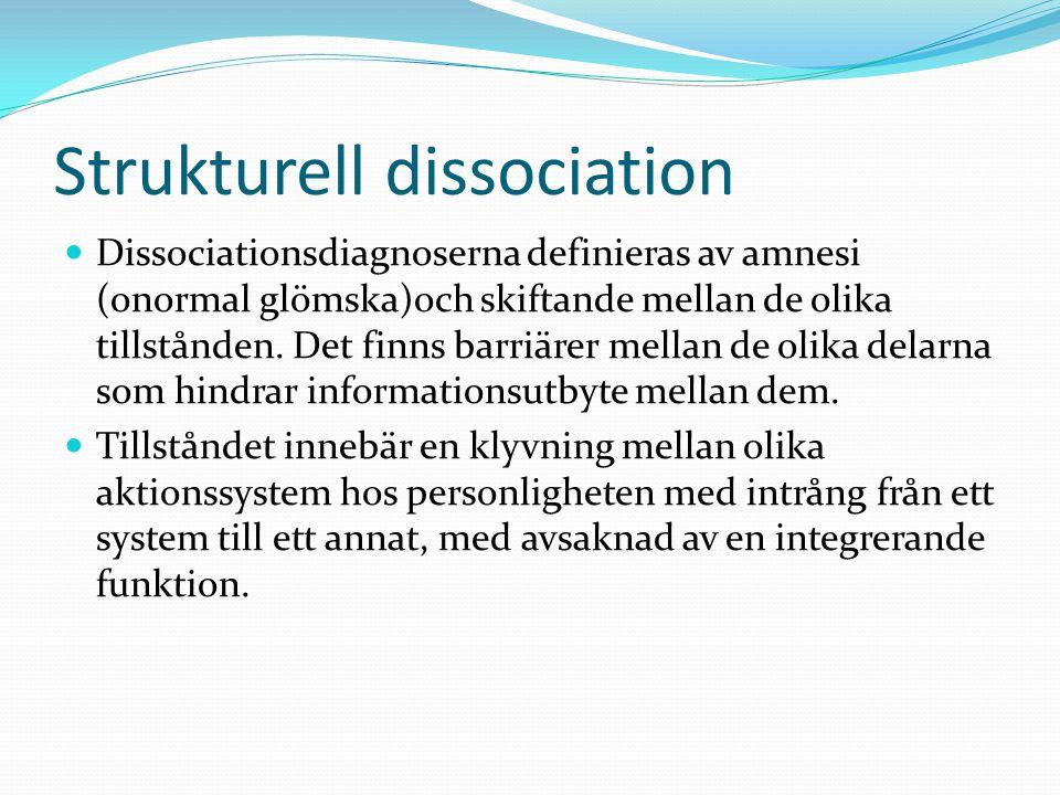 Strukturell dissociation