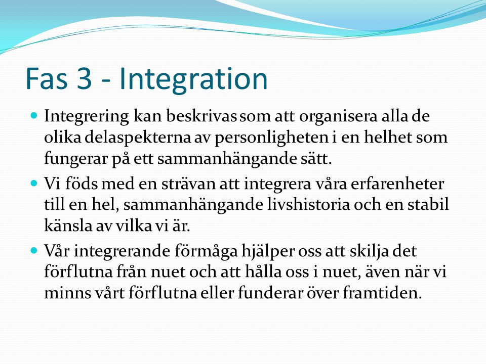 Fas 3 - Integration
