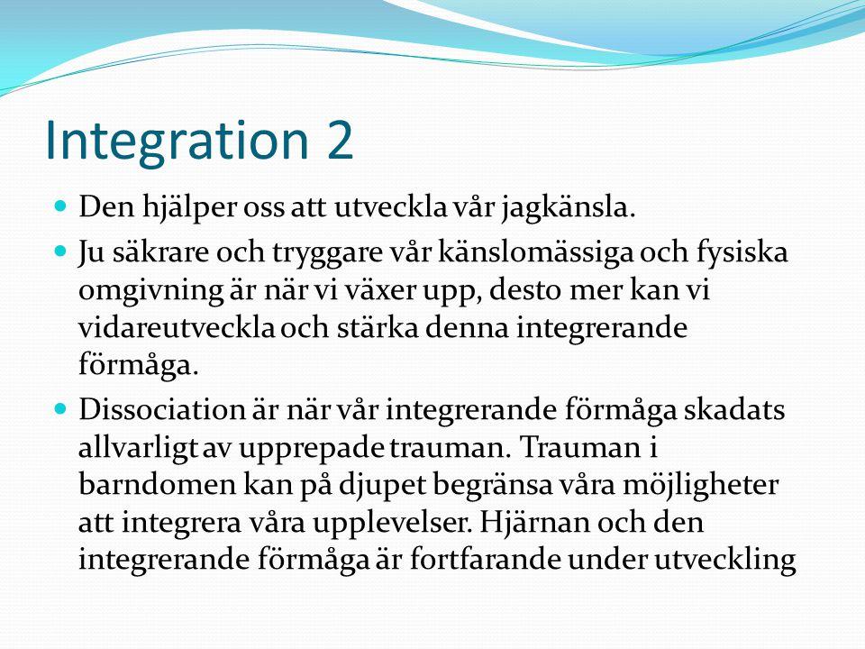 Integration 2 Den hjälper oss att utveckla vår jagkänsla.