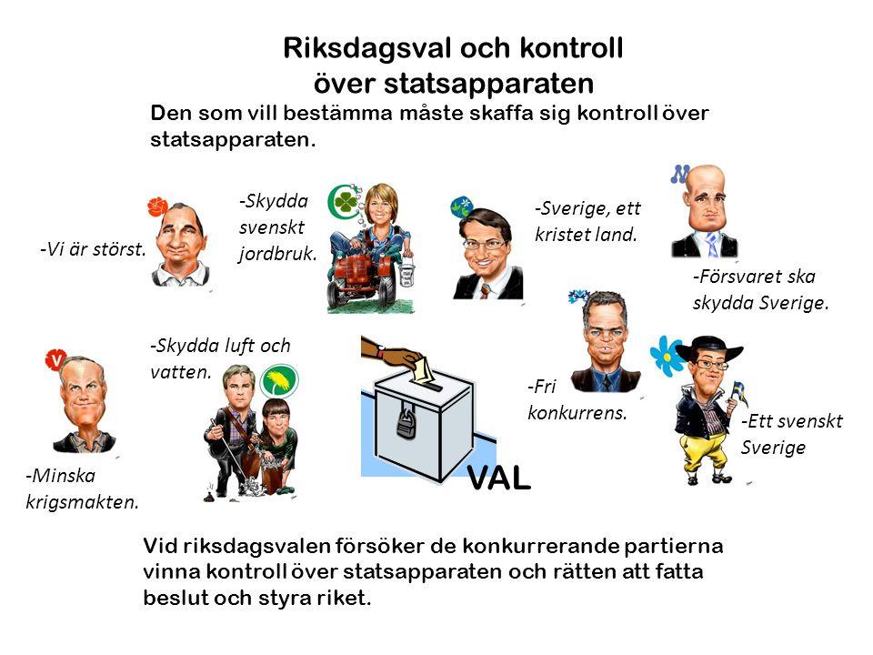 Riksdagsval och kontroll