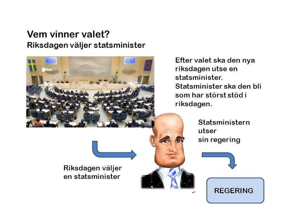 Vem vinner valet Riksdagen väljer statsminister