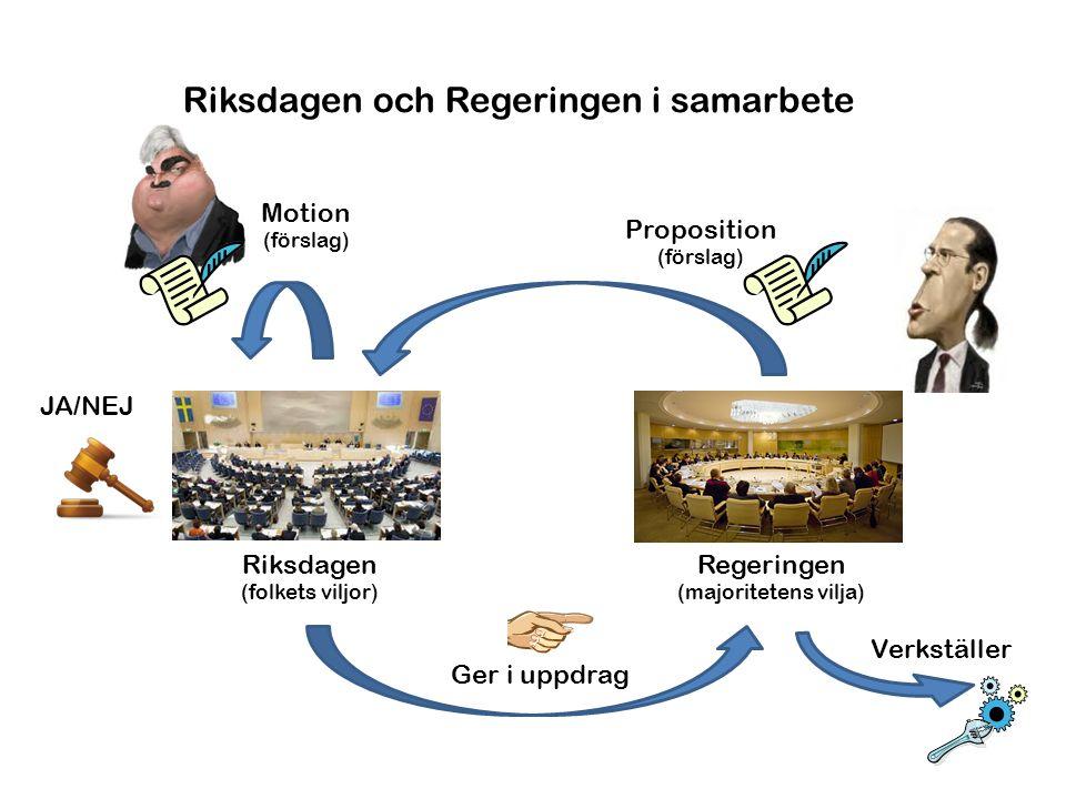 Riksdagen och Regeringen i samarbete