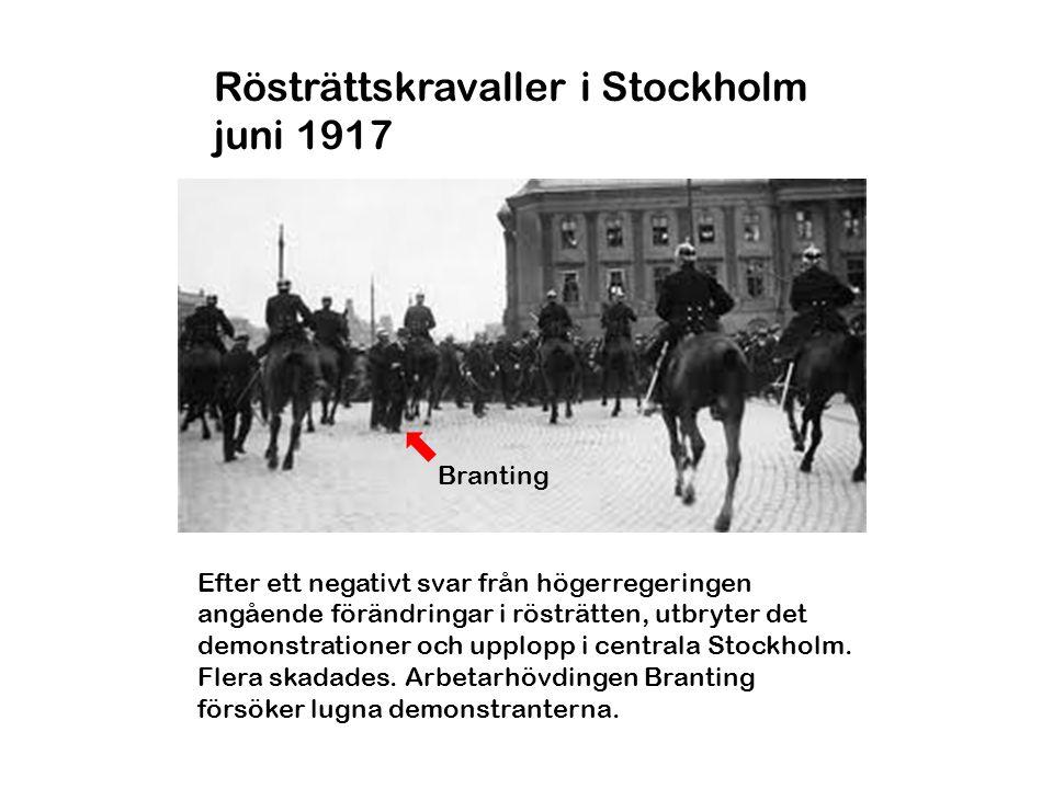 Rösträttskravaller i Stockholm juni 1917