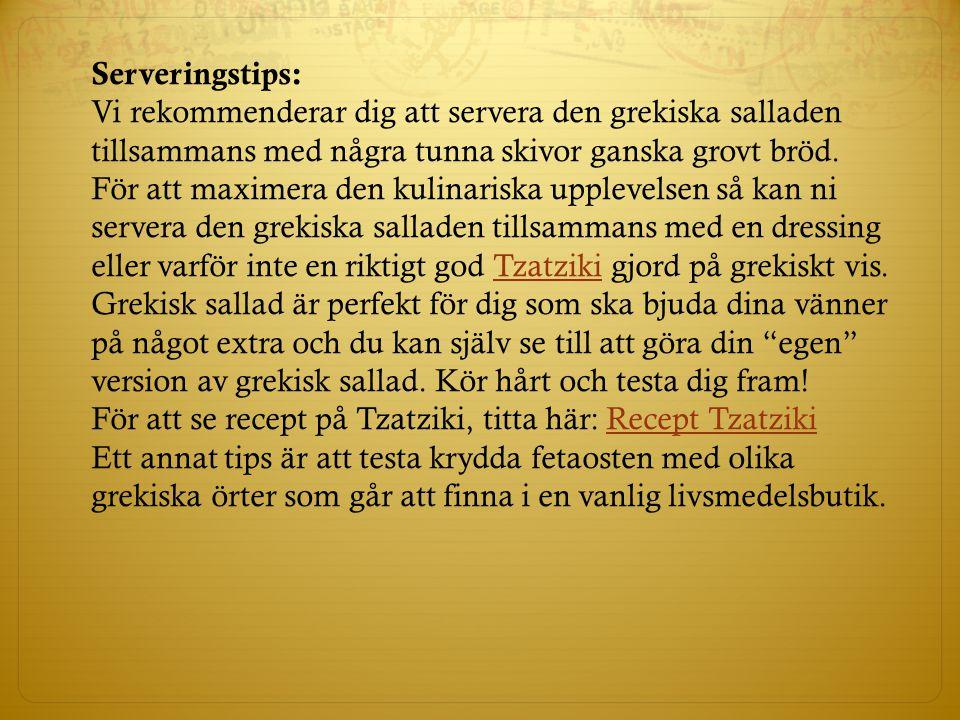 Serveringstips: