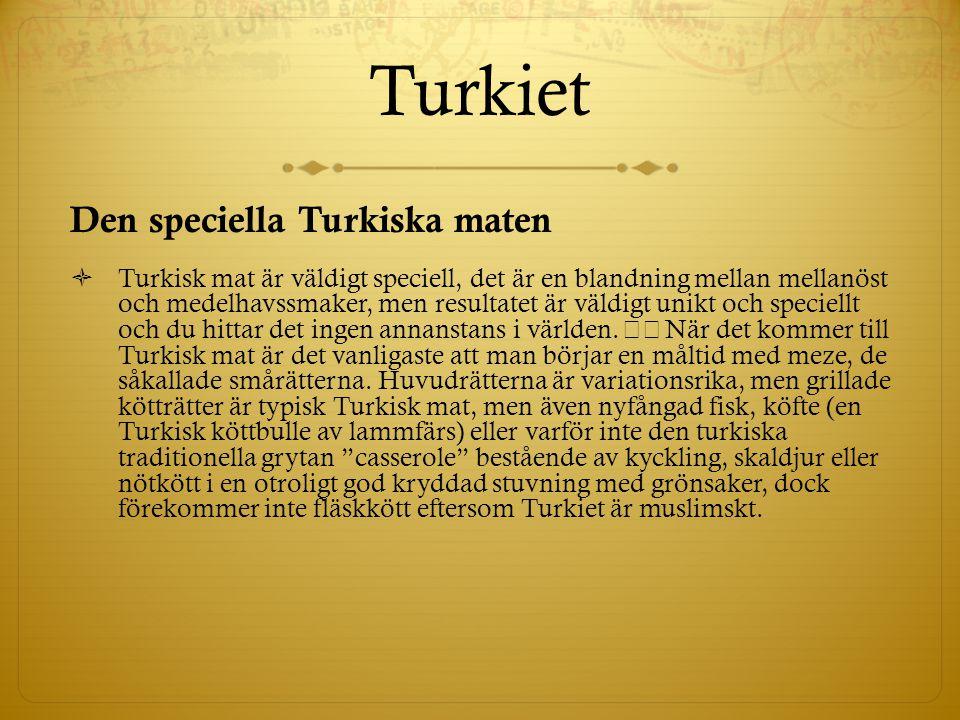 Turkiet Den speciella Turkiska maten