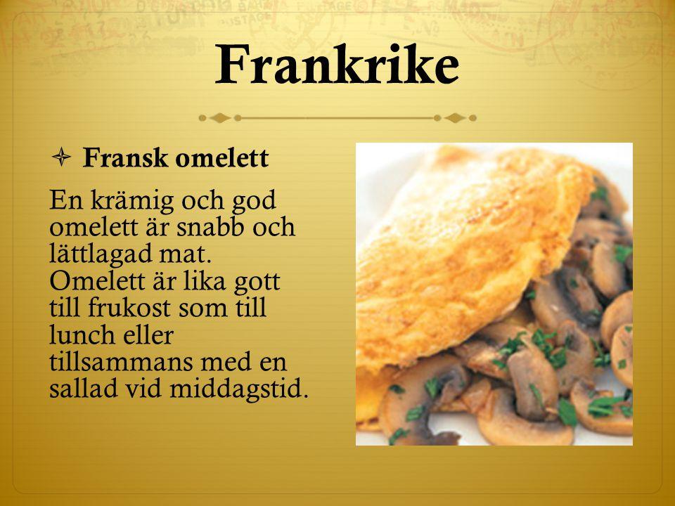 Frankrike Fransk omelett