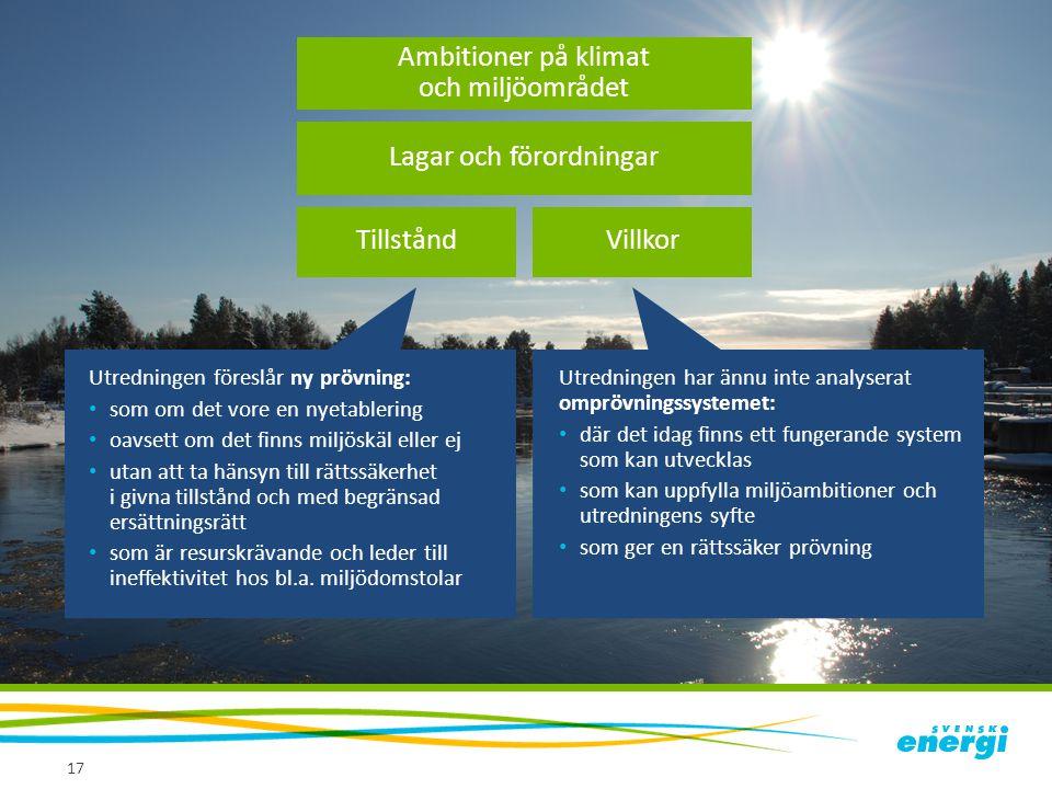 Ambitioner på klimat och miljöområdet