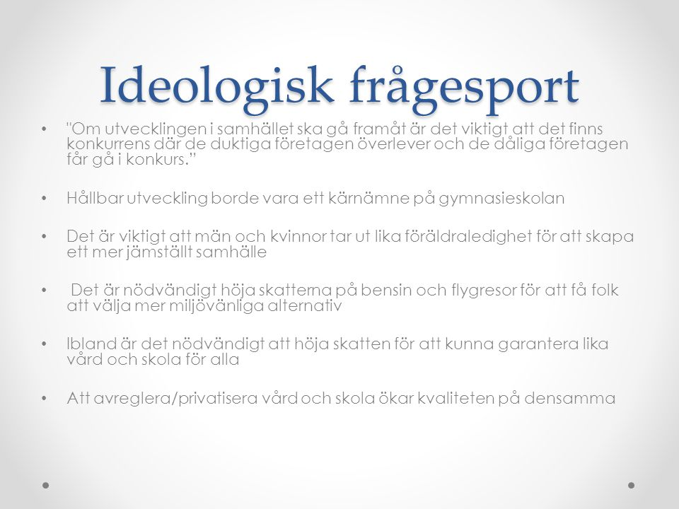 Ideologisk frågesport