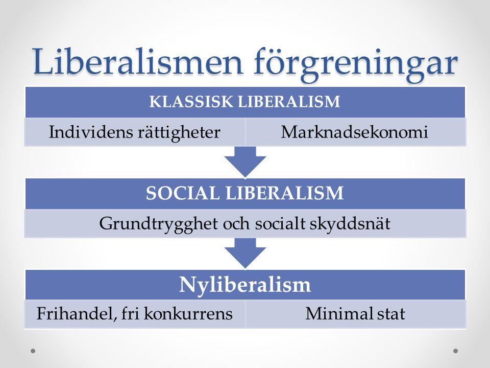 Liberalismen förgreningar
