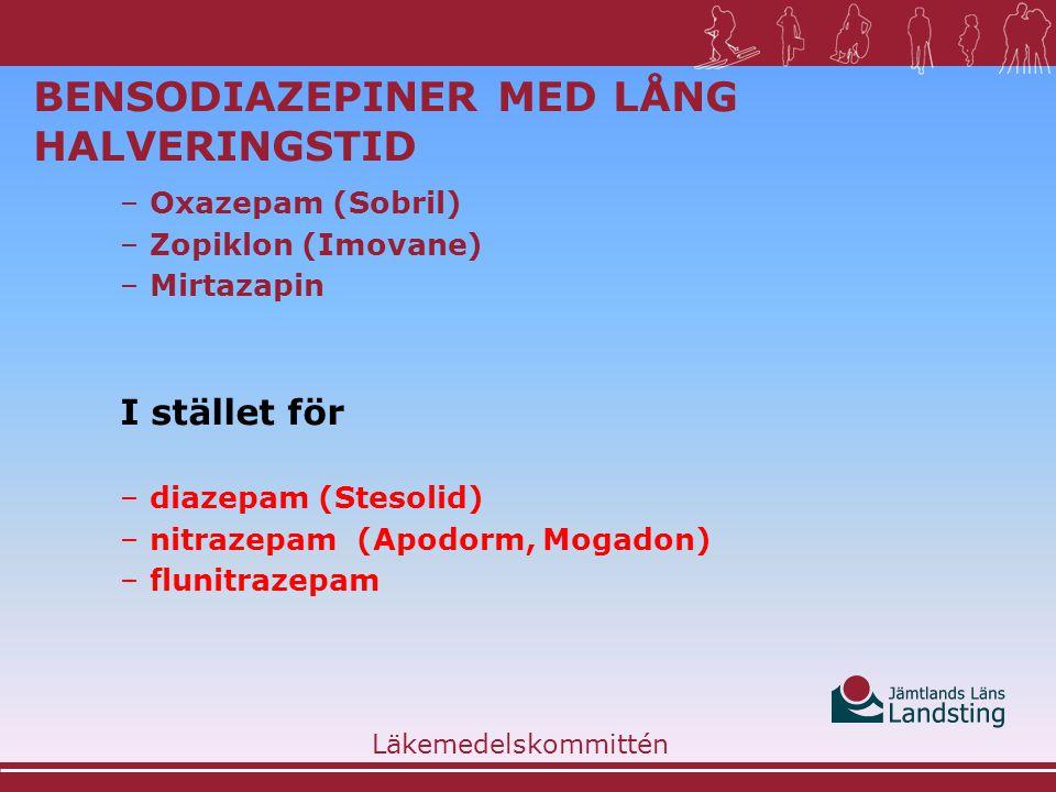 Bensodiazepiner med lång halveringstid