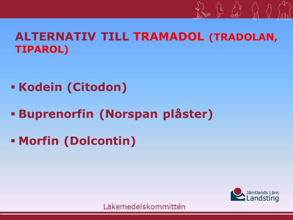 Alternativ till Tramadol (Tradolan, Tiparol)