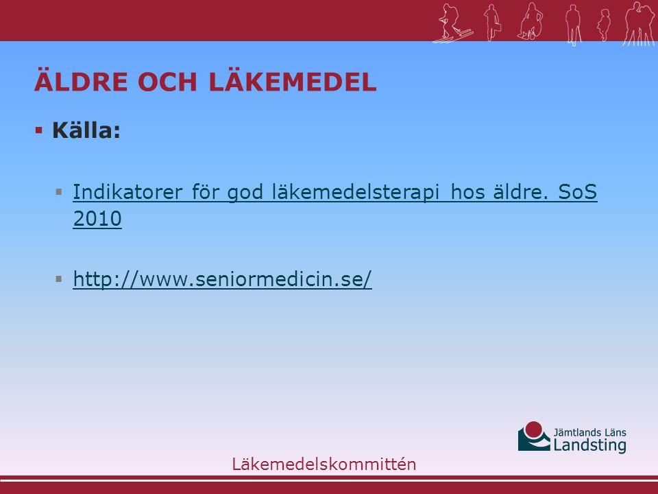 Äldre och läkemedel Källa: