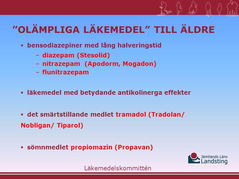 Olämpliga läkemedel till äldre