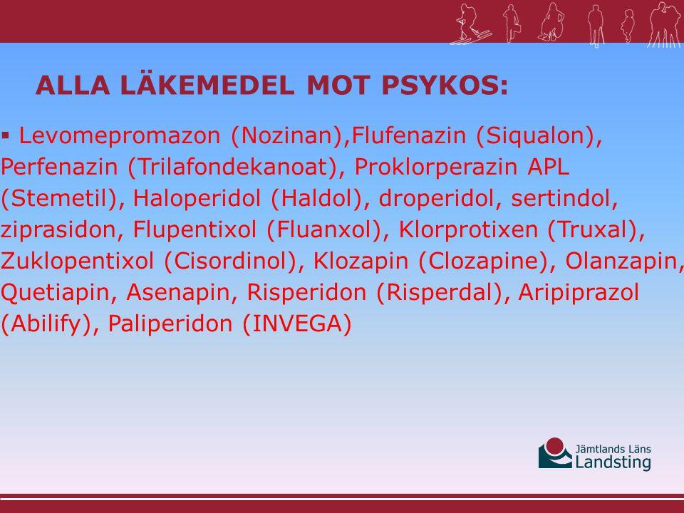 Alla Läkemedel mot psykos: