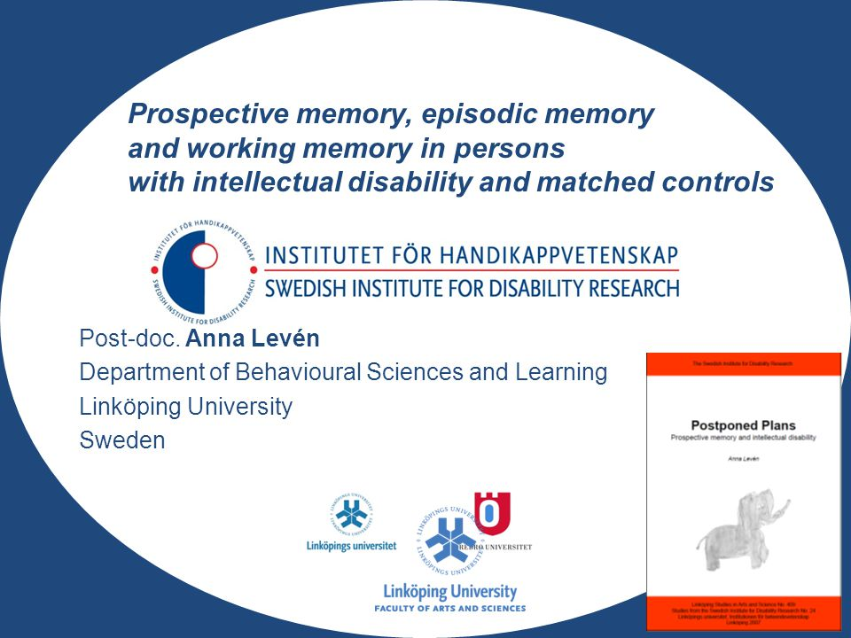 Prospective memory, episodic memory and working memory in persons