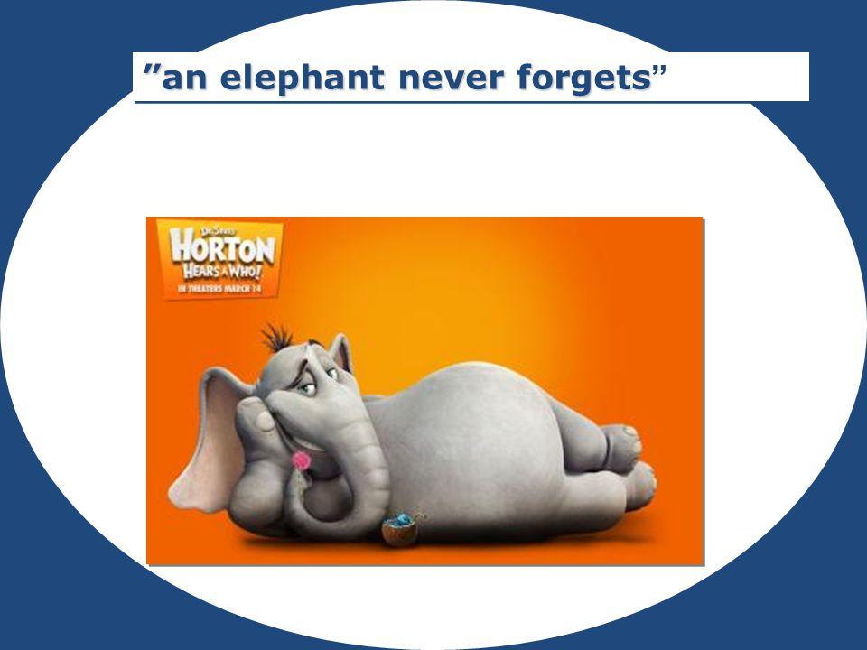 Rubrik an elephant never forgets