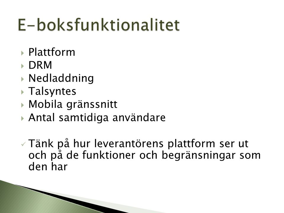 E-boksfunktionalitet