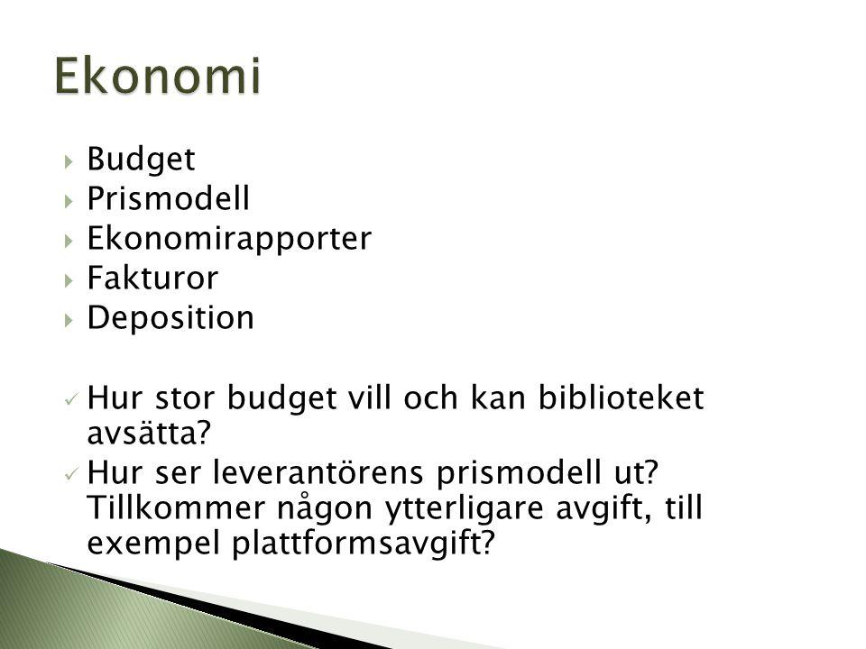 Ekonomi Budget Prismodell Ekonomirapporter Fakturor Deposition