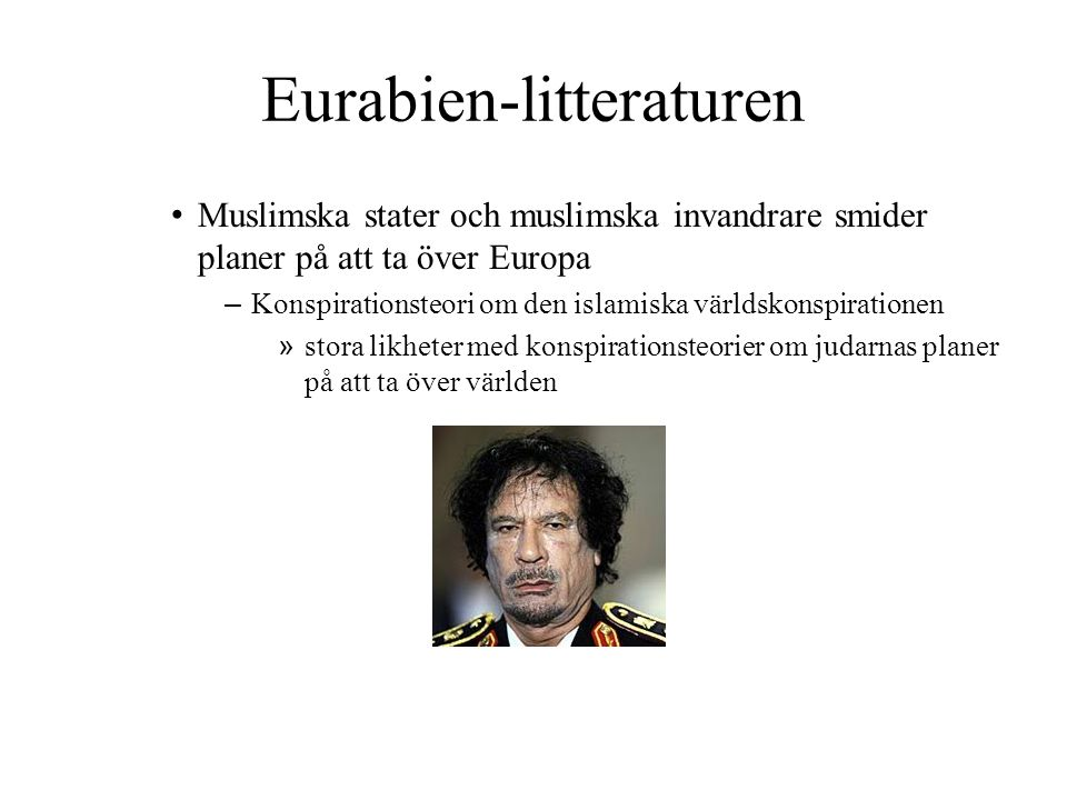 Eurabien-litteraturen
