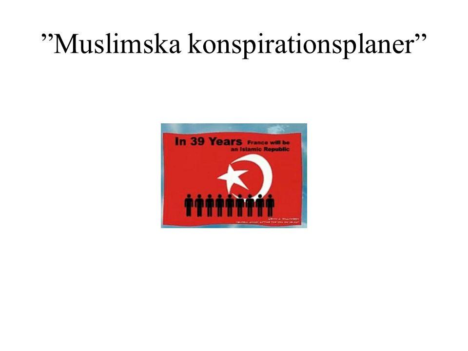 Muslimska konspirationsplaner