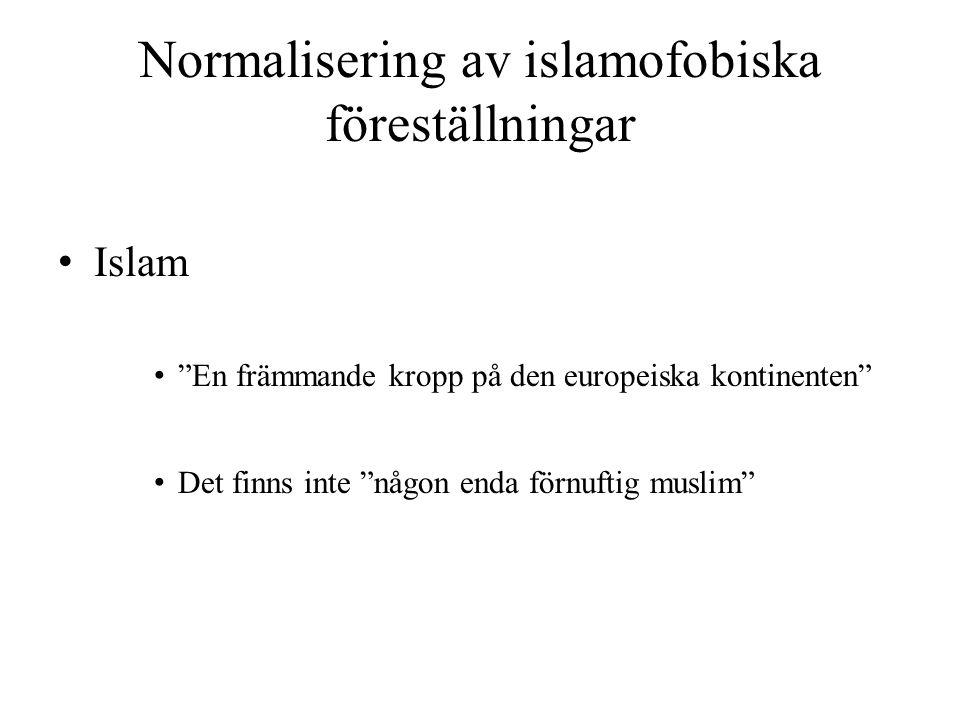 Normalisering av islamofobiska föreställningar