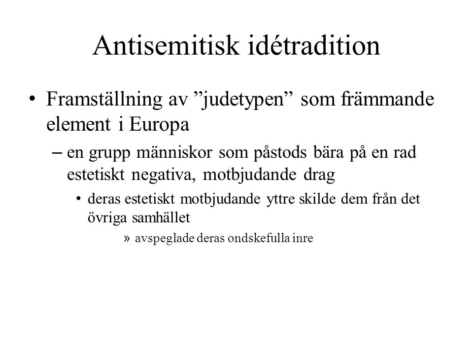 Antisemitisk idétradition