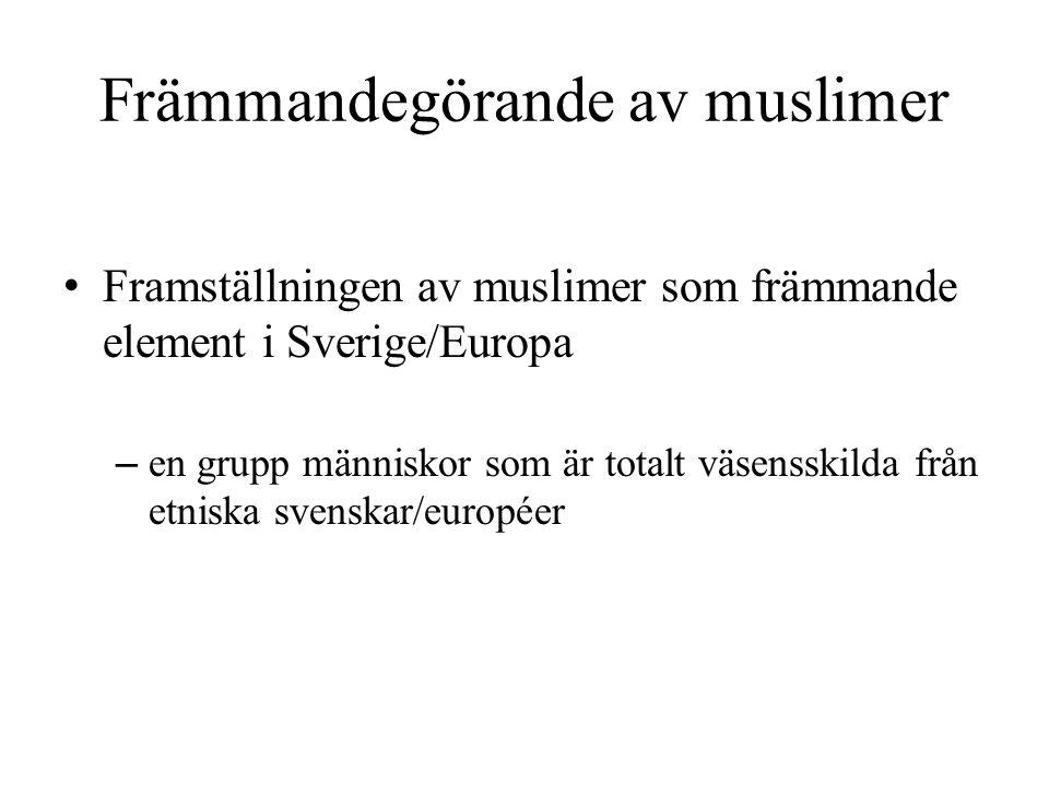 Främmandegörande av muslimer