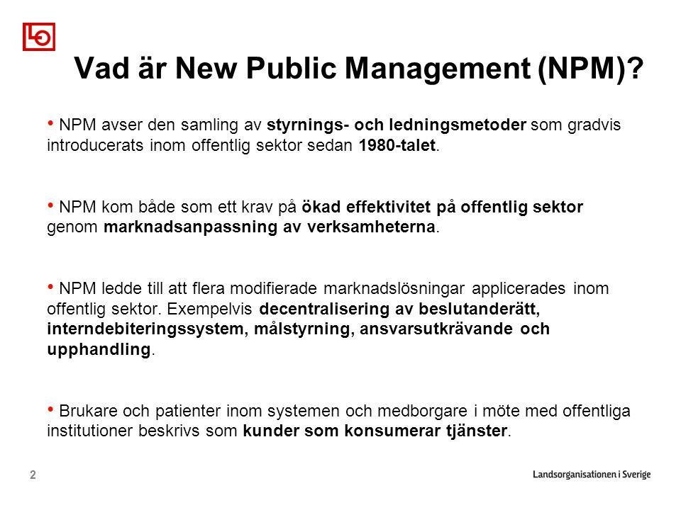Vad är New Public Management (NPM)