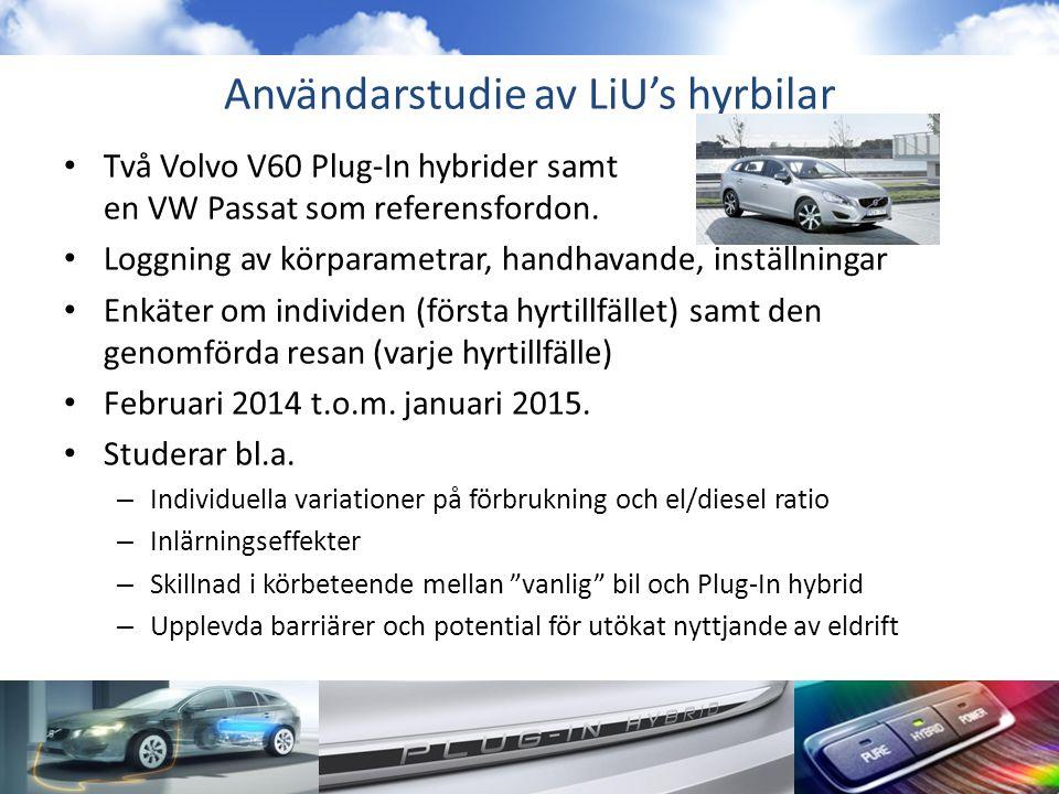 Användarstudie av LiU's hyrbilar