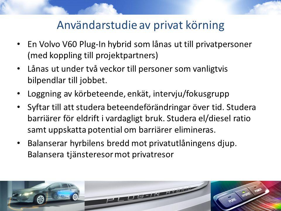 Användarstudie av privat körning