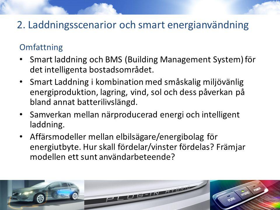 2. Laddningsscenarior och smart energianvändning