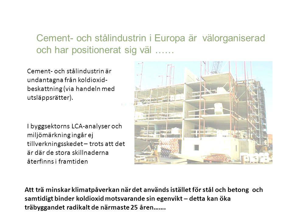 Cement- och stålindustrin i Europa är välorganiserad och har positionerat sig väl ……