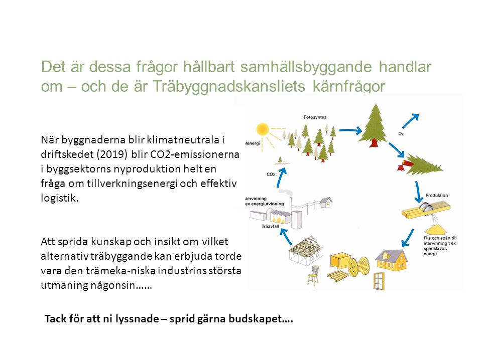 Det är dessa frågor hållbart samhällsbyggande handlar om – och de är Träbyggnadskansliets kärnfrågor