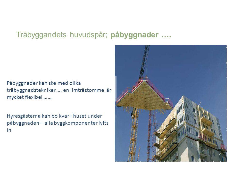 Träbyggandets huvudspår; påbyggnader ….