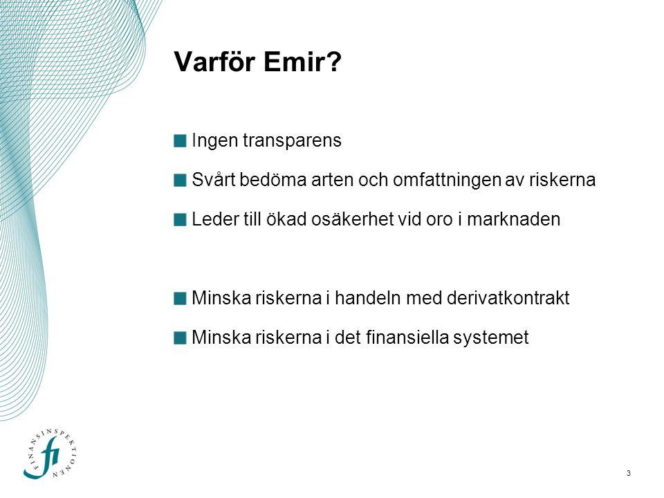 Varför Emir Ingen transparens