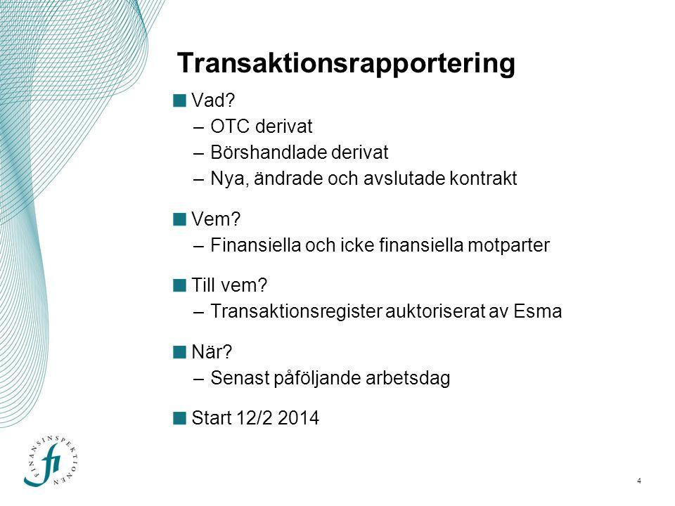 Transaktionsrapportering
